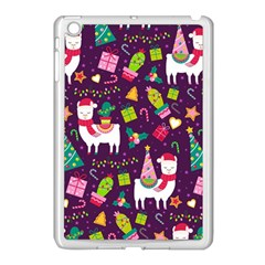 Colorful Funny Christmas Pattern Apple Ipad Mini Case (white)