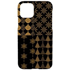 Golden Christmas Pattern Collection Iphone 11 Pro Black Uv Print Case