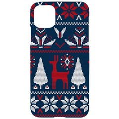 Knitted Christmas Pattern Iphone 11 Pro Max Black Uv Print Case