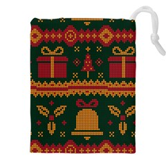 Knitted Christmas Pattern Drawstring Pouch (3xl)