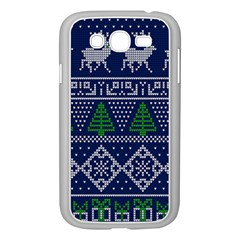 Beautiful Knitted Christmas Pattern Samsung Galaxy Grand Duos I9082 Case (white)