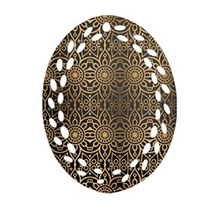 Luxury Ornamental Mandala Design Background Oval Filigree Ornament (two Sides)