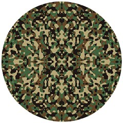 Camo Wooden Puzzle Round by ArtworkByPatrick