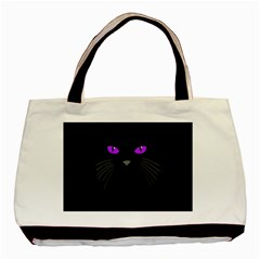 Cat Face Black Cat Basic Tote Bag (two Sides)