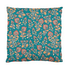 Teal Floral Paisley Standard Cushion Case (one Side) by mccallacoulture