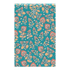 Teal Floral Paisley Shower Curtain 48  X 72  (small)