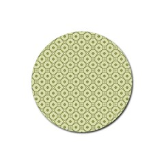 Df Codenoors Ronet Double Faced Blanket Rubber Round Coaster (4 Pack)