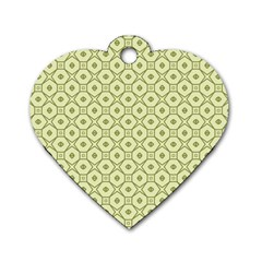 Df Codenoors Ronet Dog Tag Heart (one Side)