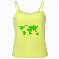 Environment Concept World Map Illustration Yellow Spaghetti Tank by dflcprintsclothing