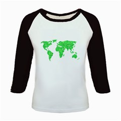 Environment Concept World Map Illustration Kids Baseball Jerseys by dflcprintsclothing