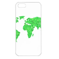 Environment Concept World Map Illustration Iphone 5 Seamless Case (white)