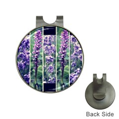 Collage Fleurs Violette Hat Clips With Golf Markers