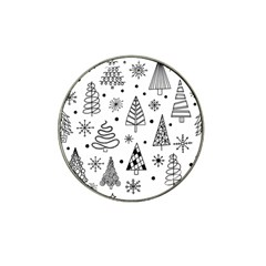 Seamless Pattern With Christmas Trees Hat Clip Ball Marker (4 Pack)