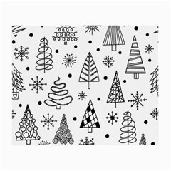 Seamless Pattern With Christmas Trees Small Glasses Cloth (2 Sides) by Vaneshart