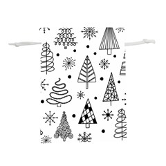 Seamless Pattern With Christmas Trees Lightweight Drawstring Pouch (l)