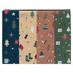 Flat Design Christmas Pattern Collection Cosmetic Bag (xxxl)