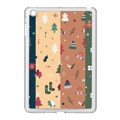 Flat Design Christmas Pattern Collection Apple Ipad Mini Case (white)