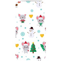 Christmas Seamless Pattern With Cute Kawaii Mouse Iphone 11 Pro Max Black Uv Print Case