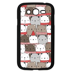Cute Adorable Bear Merry Christmas Happy New Year Cartoon Doodle Seamless Pattern Samsung Galaxy Grand Duos I9082 Case (black)
