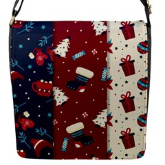 Flat Design Christmas Pattern Collection Art Flap Closure Messenger Bag (s)