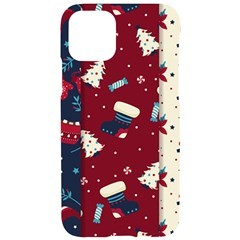 Flat Design Christmas Pattern Collection Art Iphone 11 Pro Black Uv Print Case
