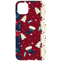 Flat Design Christmas Pattern Collection Art Iphone 11 Pro Max Black Uv Print Case