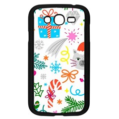 Funny Christmas Pattern Samsung Galaxy Grand Duos I9082 Case (black)