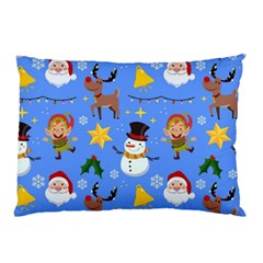 Funny Christmas Pattern With Snowman Reindeer Pillow Case
