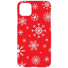 Christmas Seamless With Snowflakes Snowflake Pattern Red Background Winter Iphone 11 Pro Max Black Uv Print Case