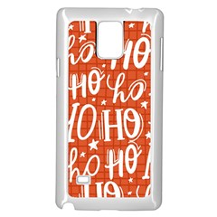 Ho Ho Ho Lettering Seamless Pattern Santa Claus Laugh Samsung Galaxy Note 4 Case (white)