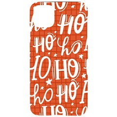 Ho Ho Ho Lettering Seamless Pattern Santa Claus Laugh Iphone 11 Pro Max Black Uv Print Case