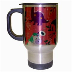 Colorful Funny Christmas Pattern Ho Ho Ho Travel Mug (silver Gray)