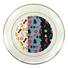Christmas Pattern Collection Flat Design Porcelain Plates