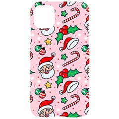 Colorful Funny Christmas Pattern Santa Claus Iphone 11 Black Uv Print Case