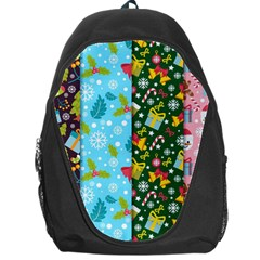 Flat Design Christmas Pattern Collection Backpack Bag by Vaneshart