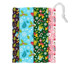 Flat Design Christmas Pattern Collection Drawstring Pouch (5xl)