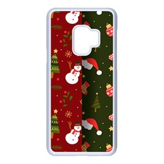 Hand Drawn Christmas Pattern Collection Samsung Galaxy S9 Seamless Case(white) by Vaneshart
