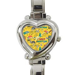 Colorful Funny Christmas Pattern Cool Ho Ho Ho Lol Heart Italian Charm Watch