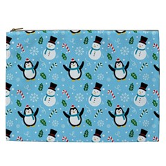 Colorful Funny Christmas Pattern Cartoon Cosmetic Bag (xxl)