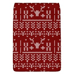 Beautiful Knitted Christmas Pattern Red Removable Flap Cover (l)