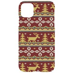Beautiful Knitted Christmas Pattern Xmas Iphone 11 Black Uv Print Case