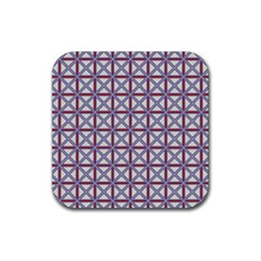 Df Donos Grid Rubber Coaster (square)  by deformigo