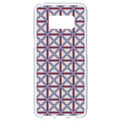Df Donos Grid Samsung Galaxy S8 White Seamless Case by deformigo
