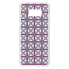 Df Donos Grid Samsung Galaxy S8 Plus White Seamless Case by deformigo