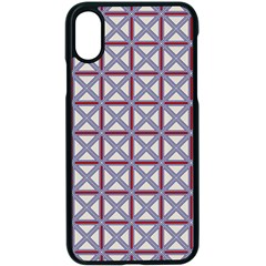 Df Donos Grid Iphone Xs Seamless Case (black) by deformigo