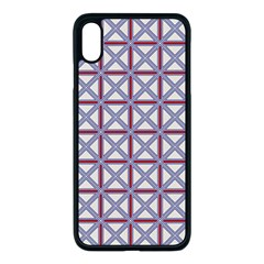 Df Donos Grid Iphone Xs Max Seamless Case (black) by deformigo