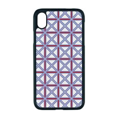 Df Donos Grid Iphone Xr Seamless Case (black) by deformigo