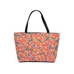 Coral Floral Paisley Classic Shoulder Handbag by mccallacoulture