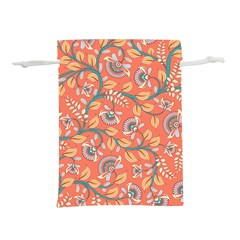 Coral Floral Paisley Lightweight Drawstring Pouch (s)
