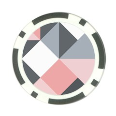 Pink, Gray, And White Geometric Poker Chip Card Guard (10 Pack) by mccallacoulture